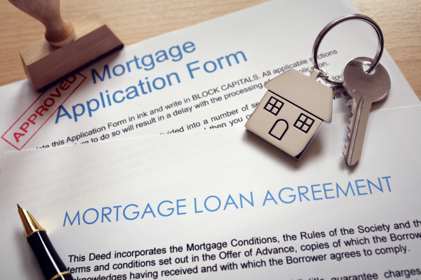 Mortgage loan application for a house in Champaign, Illinois